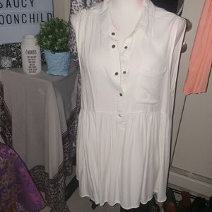EUC·[Umgee]white soft tunic top